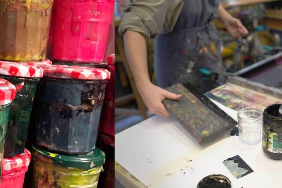 sérigraphie à l'encre aqueuse du pochon à graine KUFU en collaboration avec Mon petit balcon