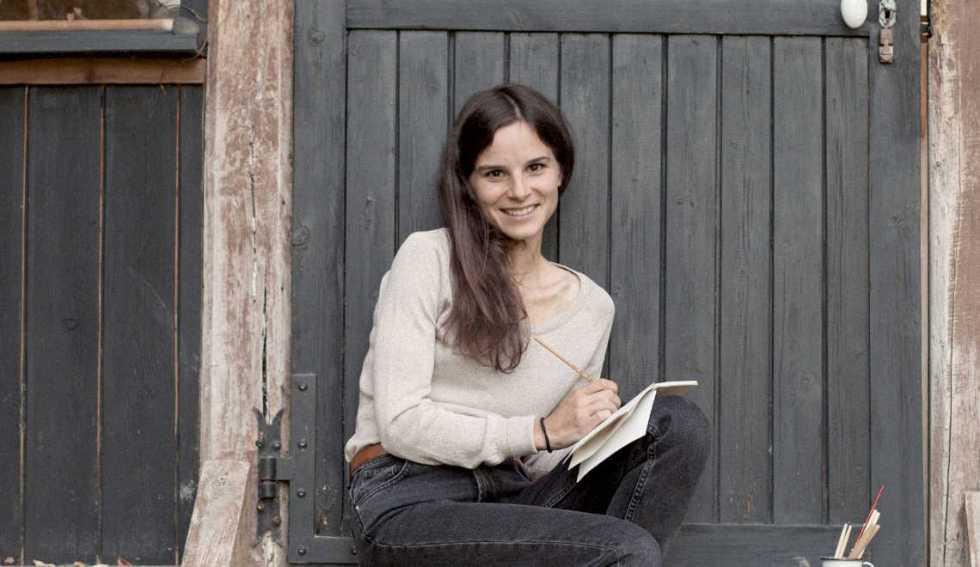 portrait illustratrice Léonore Bizard, box automne échoppe végétale