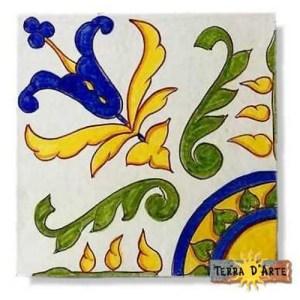 decoro siciliano in ceramica TD 233