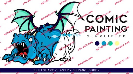 Comic Painting Simplified For Beginners Painting Dino Set