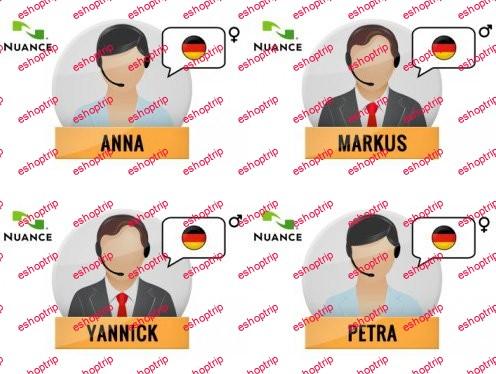Nuance Vocalizer Expressive S2G 4 German Voices Premium