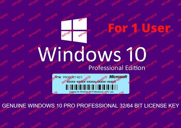WINDOWS 10 PRO 32 64 BIT ACTIVATION LICENSE KEY