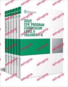 2022 CFA Program Curriculum Level II Box Set Volumes 1 6