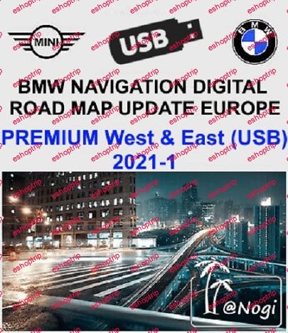 BMW Navigation Digital Road Map Update USB Europe West East PREMIUM 2021 1
