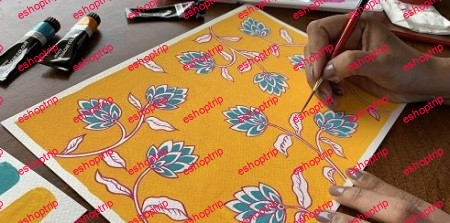 Botanical Illustration Paint a Simple Indian Floral Pattern in Gouache