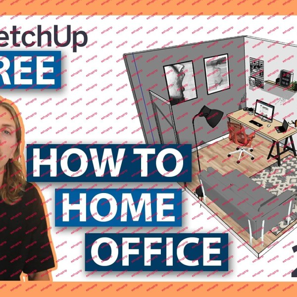 Design a Home Office in your Browser with Sketchup Free 2021 Beginners 3D modeling