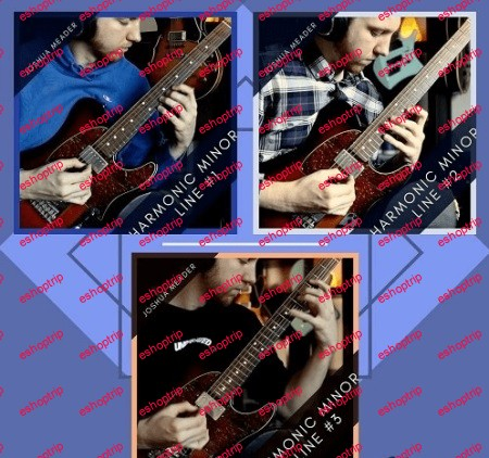 Joshua Meader ALL THREE Harmonic Minor Lines TUTORiAL