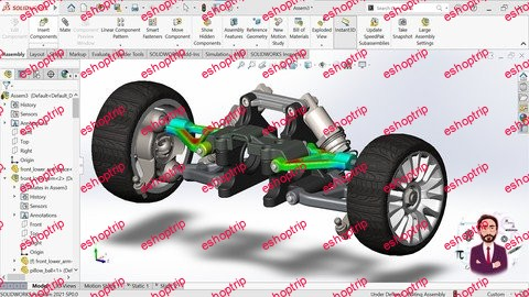 Solidworks Simulation Static Flow Motion Analysis 2021