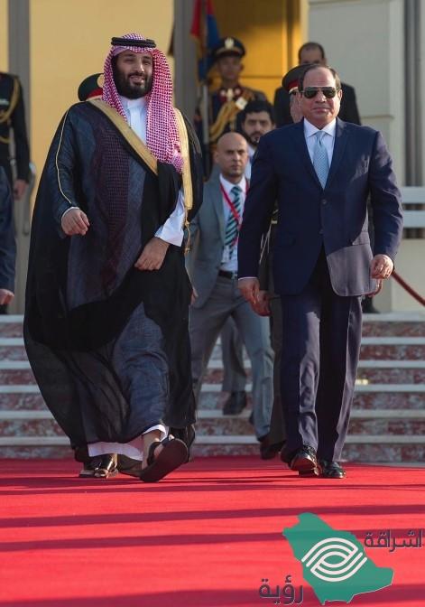 السيسي يودع ولي العهد في مطار القاهرة
