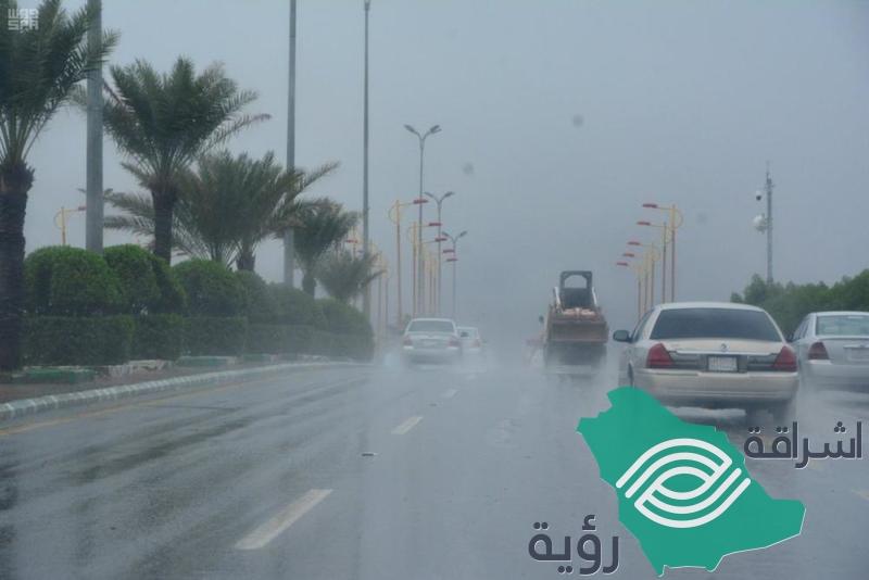 توقعات بأمطار رعدية ورياح نشطة على 12 منطقة
