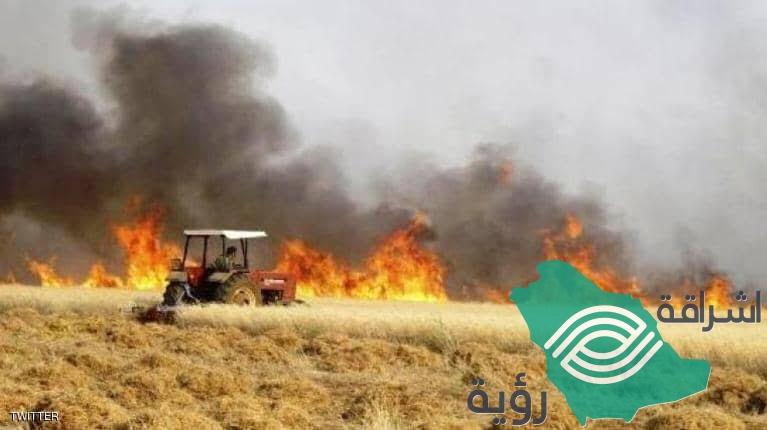 الحرائق تستمر بإلتهام المحاصيل الزراعية في العراق