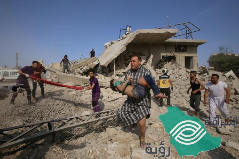 الغارات الجوية على إدلب تتسبب في مقتل سبعة مدنيين من بينهم أربعة أطفال