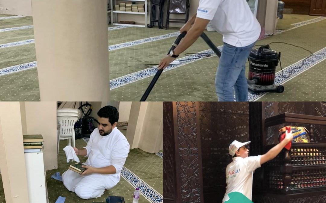 """""""سعادة أهالينا"""" تجهز المساجد للعشر الأواخر"""