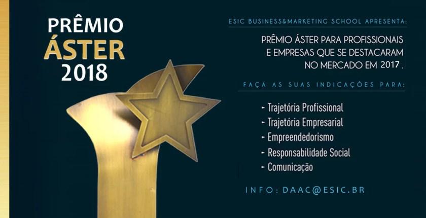 Indicações Prêmio Áster 2018