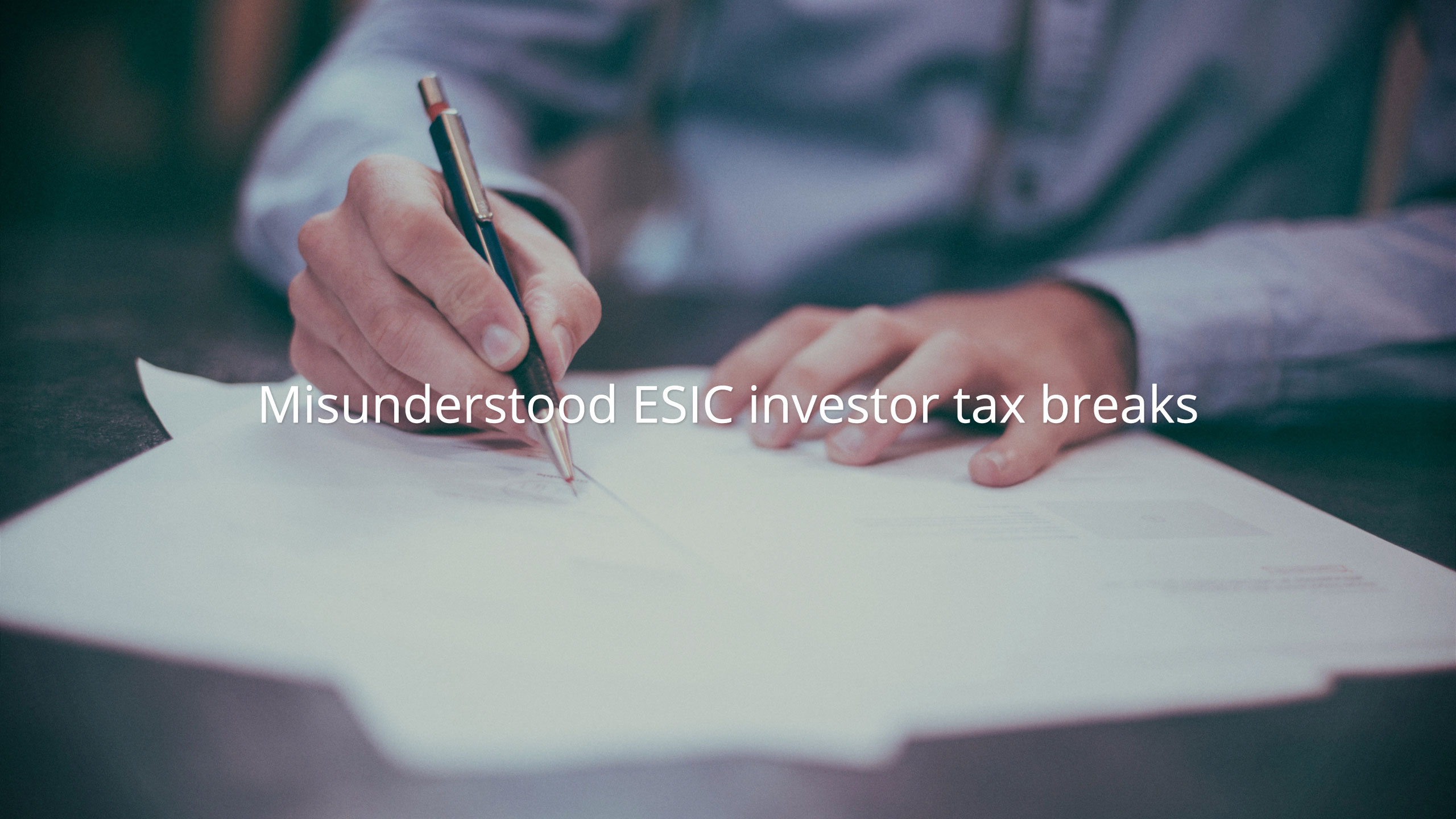 Early Stage Innovation Company investor tax breaks misunderstood by founders, investors