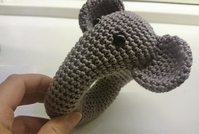 Hæklet elefant rangle