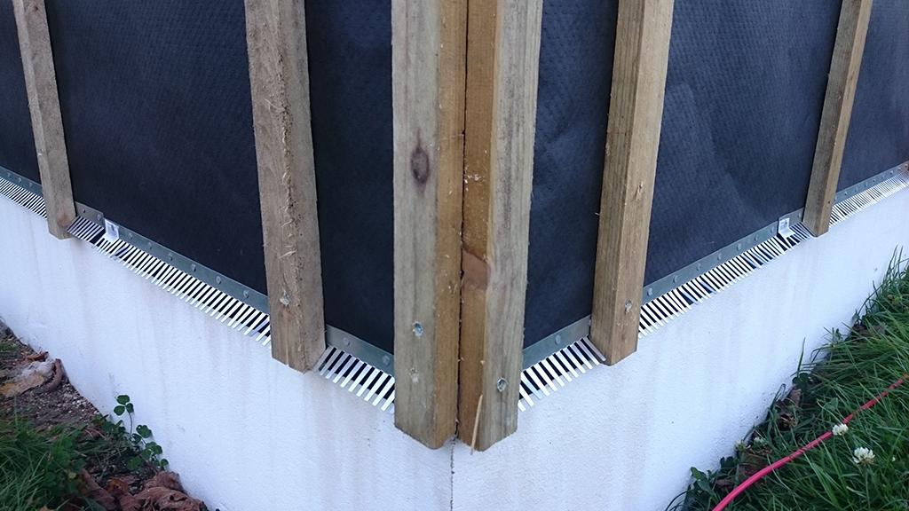 Hjørnemontering af ventilationslister