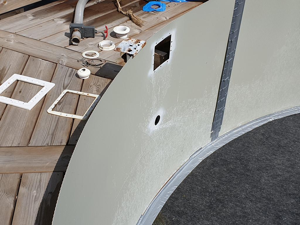 Rengøring og service af skimmer og studse