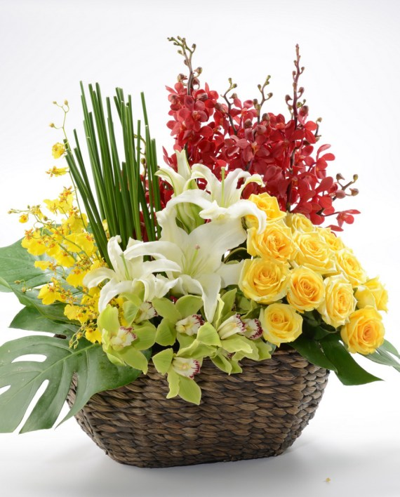 Rhapsody Flowers Basket