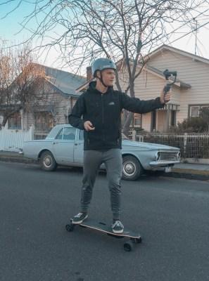 Vlogging on Electric Skateboard