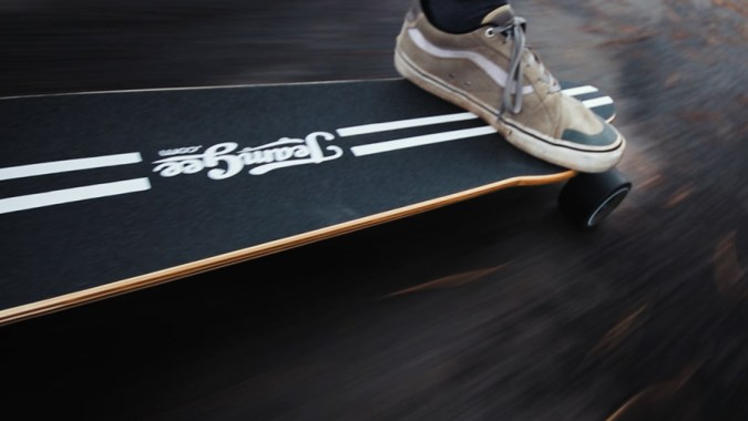 Riding the Teamgee H20 electric skateboard