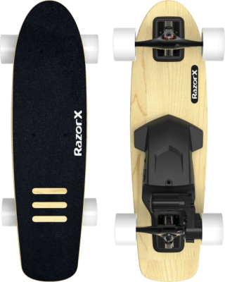RazorX Cruiser electric skateboard for kids
