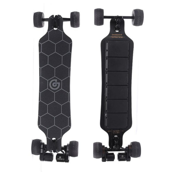 Ownboard Bamboo AT electric skateboard top and underneath deck