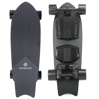 Ownboard M1 electric skateboard top and underneath deck