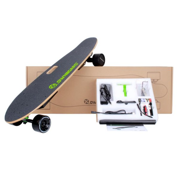 Ownboard W1AS KT electric skateboard contents in box