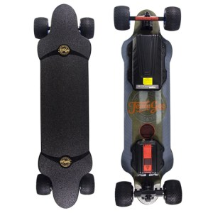 Teamgee H20T electric skateboard top and underneath deck