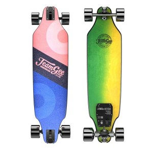 Teamgee H8 electric longboard top and underneath deck