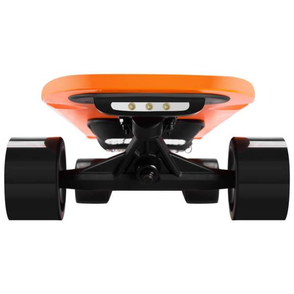enSkate Woboard S electric skateboard front view with lights