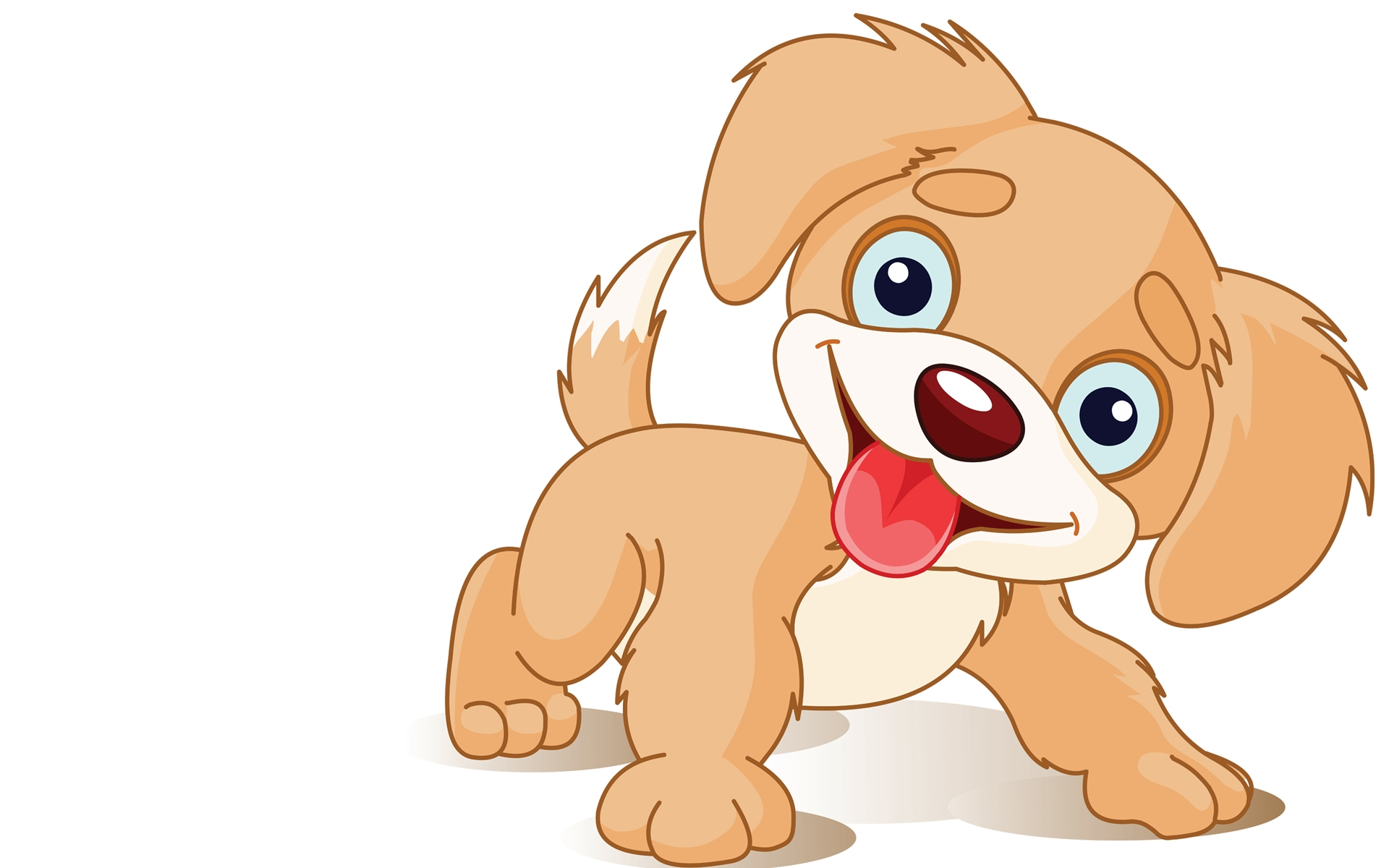 dog happy cartoon wallpaper   1920x1200   #9205