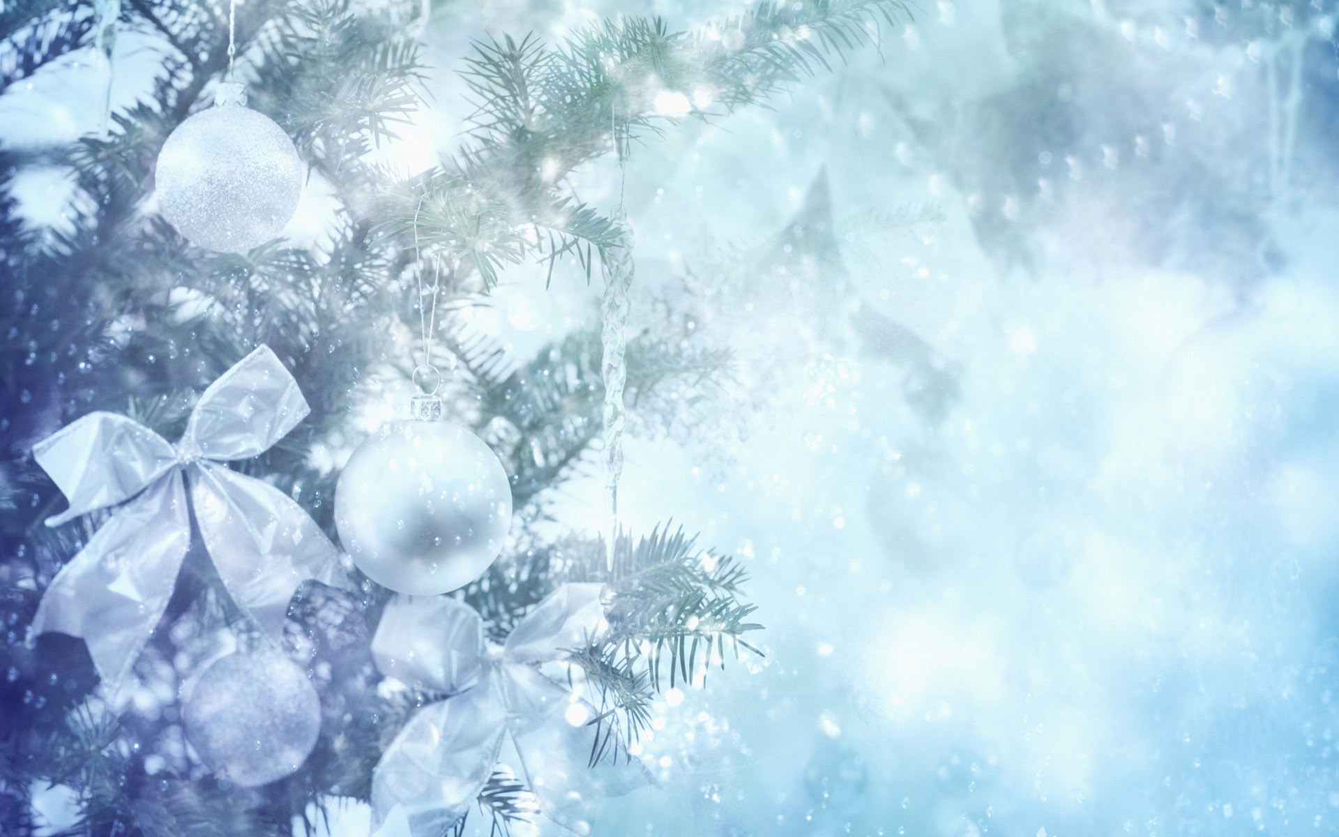 Silver Holidays Background Wallpaper 1920x1200 26597