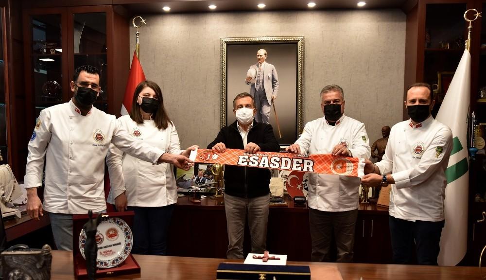 Aşçılardan Başkan Ataç'a ziyaret
