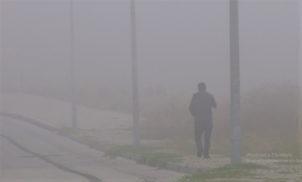 Eskişehir'de etkili olan yoğun sis havadan görüntülendi