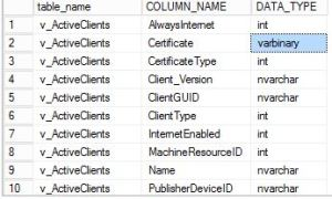Download SCCM Configmgr 1602 SQL views documentation