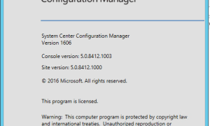 SCCM Configmgr Current Branch 1606 is now available