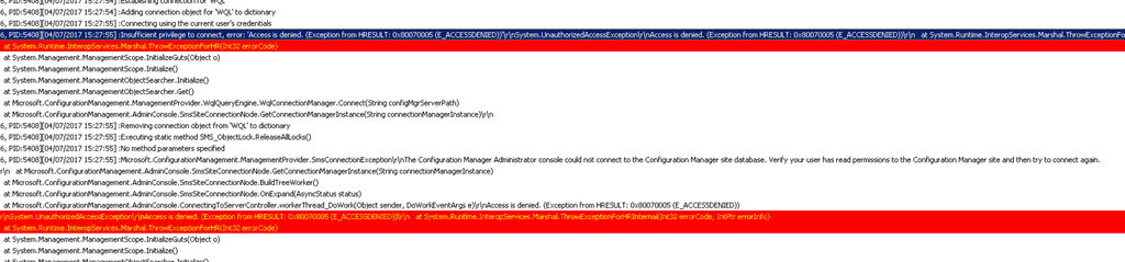 SCCM Current Branch Remote Console connectivity issues