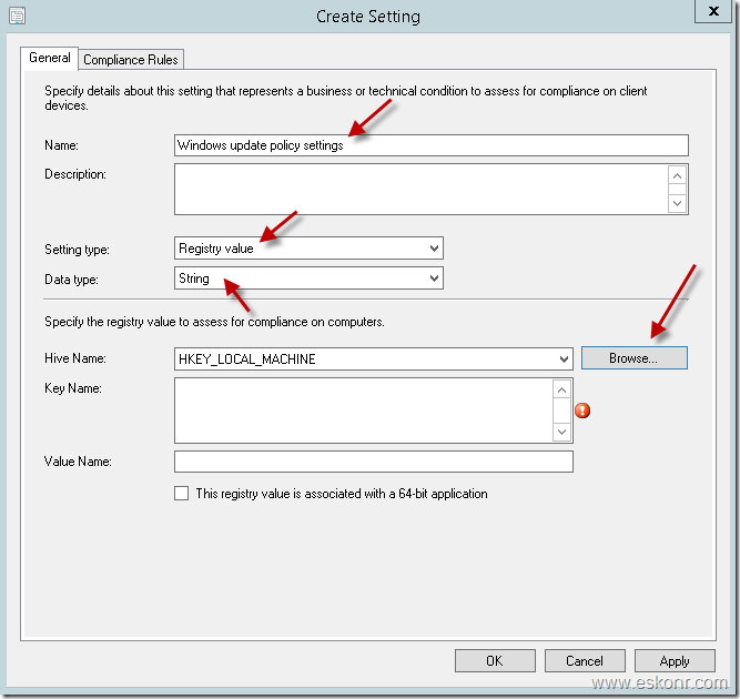 ConfigMgr How to use Compliance Settings to check the windows update