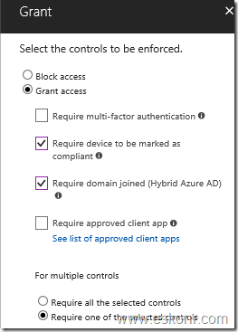 How to restrict to access to o365 from unsupported OS like Ubuntu