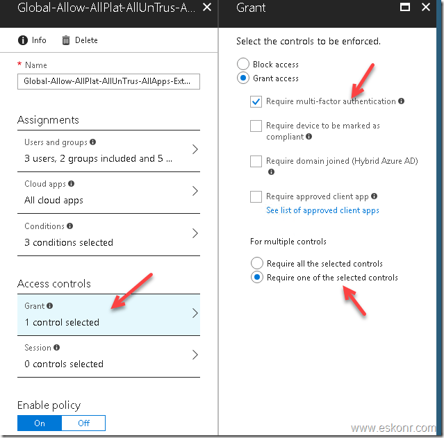 Conditional Access to prompt MFA if user coming from untrusted