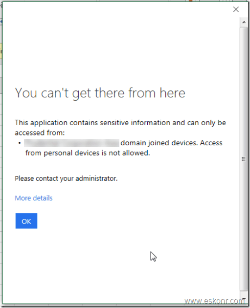 workplace join (Hybrid Azure AD Join) for windows failed