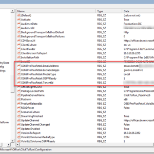 How to get office 365 proplus activation status and excluded apps etc using SCCM Configmgr