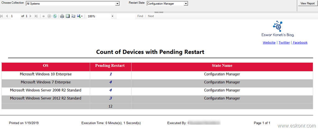 SCCM Report Get list of devices with pending reboot in a
