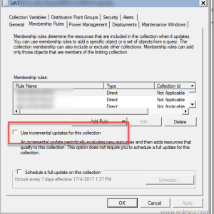 SCCM Configmgr monitoring Collection Evaluations and change update membership schedule using powershell