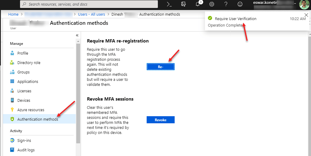 How to delegate permissions for managing MFA in Azure Active