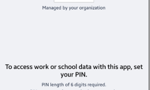 Intune app protection policy PIN change experience
