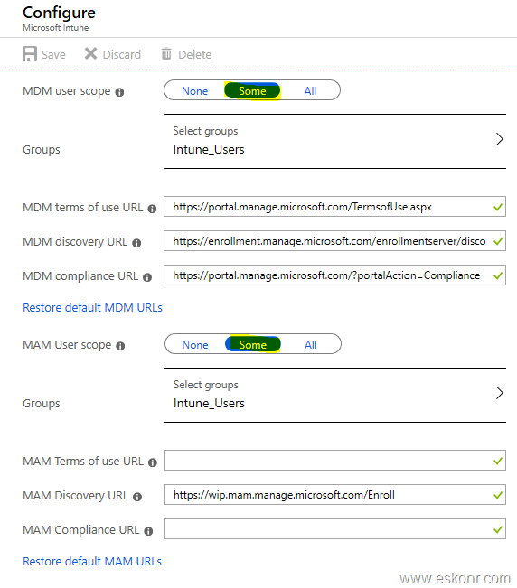 Unable to see the intune enrolled windows 10 device in Azure
