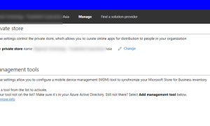 Authorization error when attempting to download Windows Store for Business application inventory – ConfigMgr